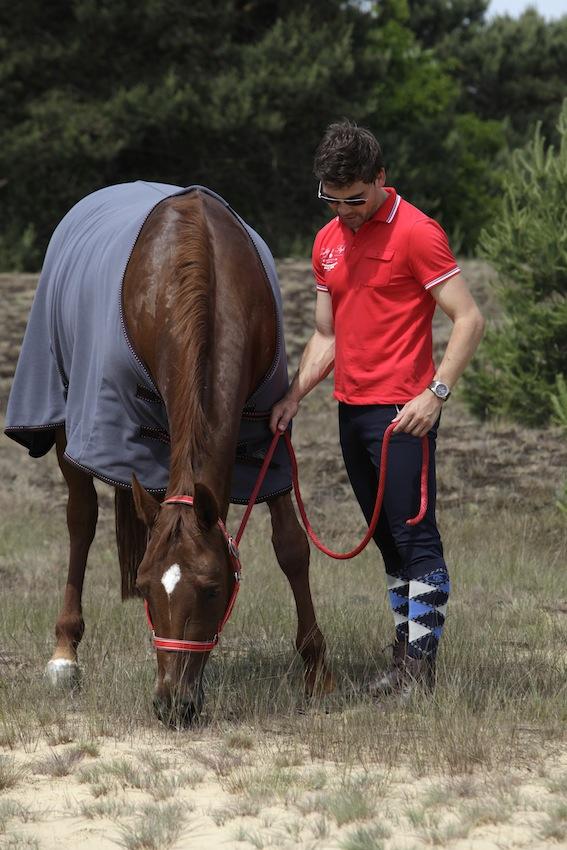 Kelvin is te zien in de voorjaarscampagne van paardensportmerk BR